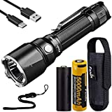 Fenix TK22UE Ultimate Edition 1600 Lumen 443 Yard Long Throw Rechargeable Tactical Flashlight with Tungsten Impact Bezel and LumenTac Battery Case