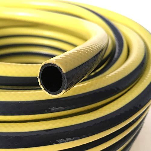 HAIYU- Tuinslang 1/2 inch, anti-knik ontwerp, hoge waterdrukslang, met accessoires Voor irrigatie, water geven, wassen in de auto (geel/zwart)