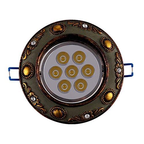 Wddwarmhome Les projecteurs rétro ont mené le processus de découpage de plafonniers des lumières 7W de plafonniers de couloir 2pcs