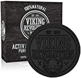 Viking Revolution Activated Charcoal Soap for Men w/Dead Sea Mud – Men's Body and Face Soap –...