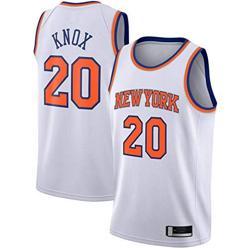 ANMOQI Blanco - Knox Baloncesto Jersey Ropa Nueva Camiseta Kevin Outdoor Knicks #20 2019/2020 Swingman Jersey York Association Edition, blanco, XL