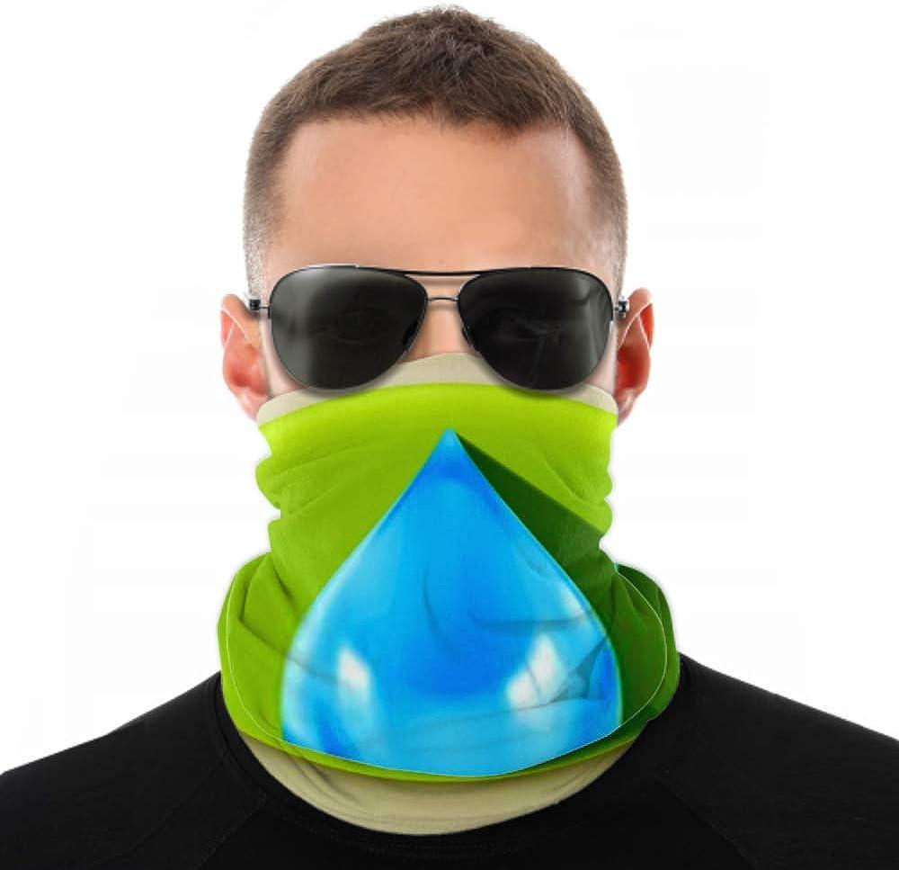 Headbands For Men Women Neck Gaiter, Face Mask, Headband, Scarf Blue Water Drop Long Shadow Vector Turban Multi Scarf Double Sided Print Women Headbands For Sport Outdoor