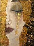 BBSJX Las Lágrimas De Oro De Gustav Klimt Rompecabezas Adultos Madera 1000 Piezas Niños Clásico Juego Creativo Arte Juguetes 50X75Cm,Jigsaw Puzzle