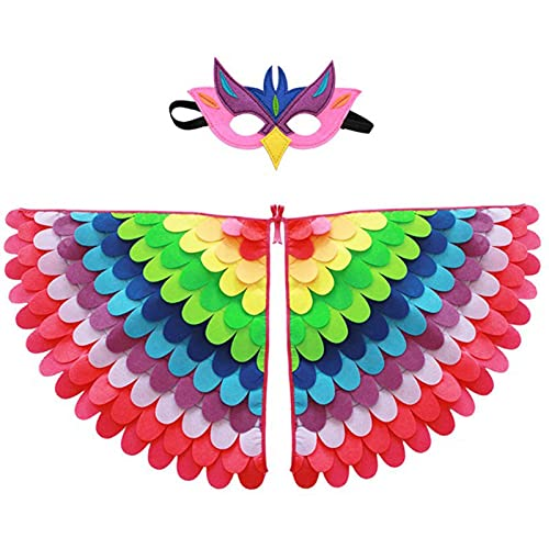Activane Peacock Bird Wings Costume Colorful Dress...