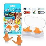 Hearprotek Natación Tapones para los oídos, 2 Pares Tapones de Silicona Reutilizables a Prueba de Agua para Nadadores duchas de baño y Otros Deportes acuáticos Tamaño para niños (Naranja)