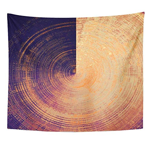 AdoDecor Esférico Vintage Patrones Desgastados y rugosos Amarillo Beige Marrón Rojo Naranja Púrpura Tapiz Decoración para el hogar Colgante de Pared para Vivir 150x180cm