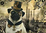 Steampunk Dog Puzzles 1000 Puzzles For Adults Family Puzzles Wooden Puzzles Educational Games Intellectual Challenge Puzzles Challenge Games