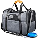 Pet Carrier Airline Approved Soft Sided for Cats and Small Dogs...
