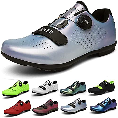 KUXUAN Zapatos de ciclismo Spin Shoestring con zapata compatible con zapatos peloton con SPD y Delta Lock Pedal Bike Zapatos, Multicolor-11UK = (275mm) = 45EU