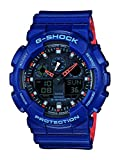 Casio G-SHOCK Orologio 20 BAR, Azzurro, Analogico - Digitale, Uomo, GA-100L-2AER
