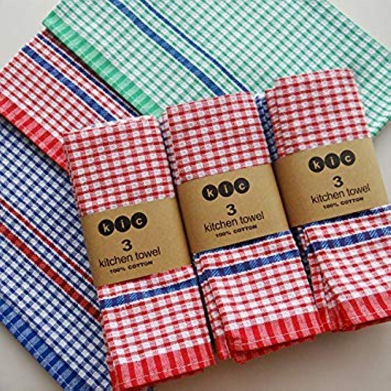 Red, 10PC   10PC Lot OEM High Quality 100% Cotton Dish Cloth Plaid pano de Prato Eco-Friendly Kitchen Towel Bulk Tea Towel Lots Scouring Pad