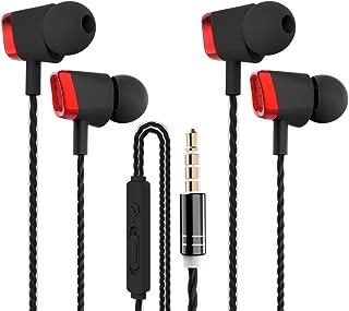 【2 Paia】CBGGQ Auricolari in-ear con isolamento acustico e bassi potenti, auricolari con microfono e controllo del volume, ...