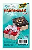 folia 3321 - Mini Geschenkboxen, Pappschachteln aus Karton, eckig, natur, 10 Stück, 7,5 x 7,5 x 4,5 cm - ideal zum Verzieren und Verschenken