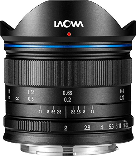 Laowa VE7520MFTSTBLK - Objetivo de 7.5 mm para cámaras de Micro 4/3 (16.9 MP, HD 720p) Color Negro