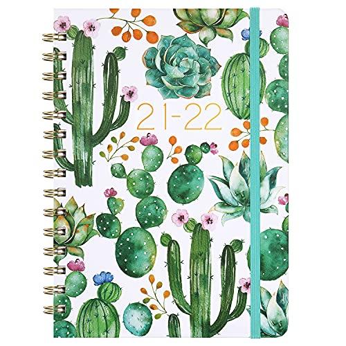 Agenda 2021 2022 – Agenda settimanale A5 da luglio 2021 a giugno 2022, 15 x 21 cm, cactus
