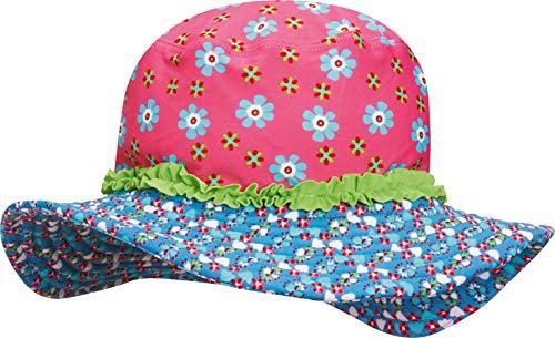 Playshoes Mädchen Mütze Sonnenhut, Bademütze Blumen, UV-Schutz nach Standard 801 und Oeko-Tex Standard 100, Gr. Large (Herstellergröße: 55cm), Mehrfarbig (original 900)