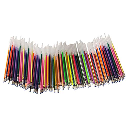 Harilla 60/100Pcs Gel Color Pens Refills, Gel Ink Highlighter Pens Refills...
