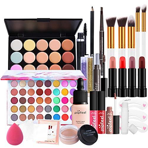 Kit De Maquillage Pour Femme Kit De Maquillage Polyvalent Kit De Maquillage Professionnel Kit De Démarrage De Maquillage Essentiel, Coffret Cadeau Maquillage Tout-en-un Avec Trousse Cosmétique
