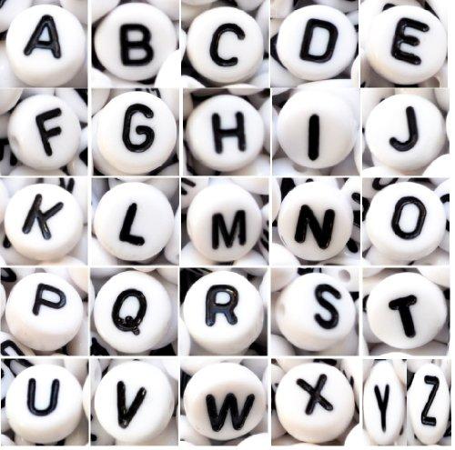 Lot de 100 perles plat rond 7 x 4 mm), Résine acrylique, white single I, 7 x 4 mm