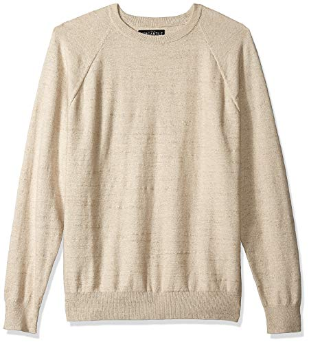 J.Crew Mercantile Men's Textured Cotton Crewneck Sweater, Heather Light Brown, M