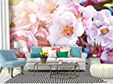 SKIWAMural Self Adhesive Wallpaper Roll Paper Blossoming columnar Apple Tree in Spring Apple Flower Stock Removable Peel and Stick Wallpaper Decorative Wall Mural Posters Home Covering Interior Film