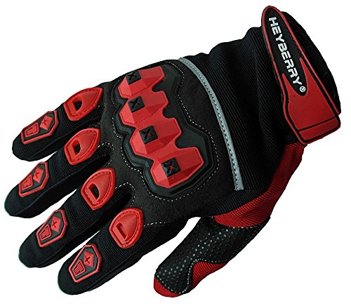 Heyberry Motocross Offroad MTB MX Handschuhe schwarz rot Gr. XL