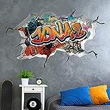 tjapalo®vr156 3D Wandtattoo Graffiti Name Wandaufkleber