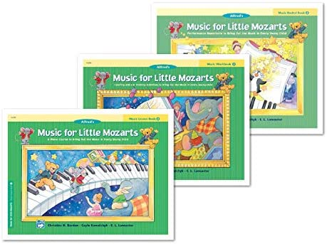 NEW Alfred s Music for Little Mozarts Books 2 Set 3 Books Lesson Book 2 Workbook 2 Recital Book product image