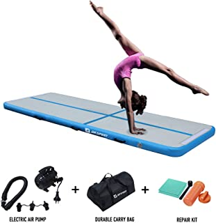 Air Track 10ft 13ft 16ft 20ft Airtrack Gymnastics Tumbling Mat Inflatable Tumble Track with Electric Air Pump for Home Use/Tumble/Gym/Training/Cheerleading