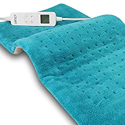 "Heating Pad for Pain Relief, FDA Approved, XL King Size Soft Touch, Electric 6 Heat Setting with Auto Off, Moist Heat Therapy Option for Neck Back Shoulder, 12"" X 24"""