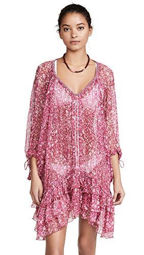Poupette St Barth Women's Poncho Dress, Pink Aspen, One Size