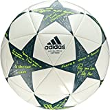 adidas Performance Champions League Finale Capitano Soccer Ball, White/Vapor Steel Grey/Tech Green, Size 5
