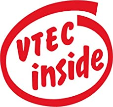 VTEC inside 抜き文字ステッカー Lサイズ レッド