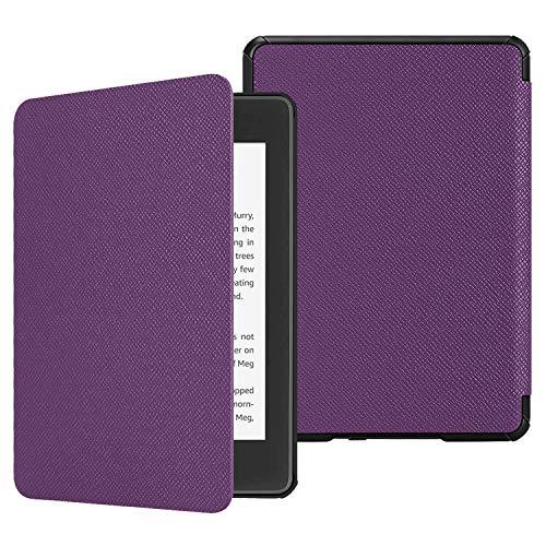 FINTIE SlimShell Funda para Kindle Paperwhite (10.ª generación, 2018) - Carcasa Fina y Ligera de Cuero Sintético con Función de Auto-Reposo/Activación, Violeta
