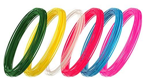 3D Pen PLA Filament 3D Box 6 Colors, 32 Feet per Color, Total 192 Feet (+1 Luminous)