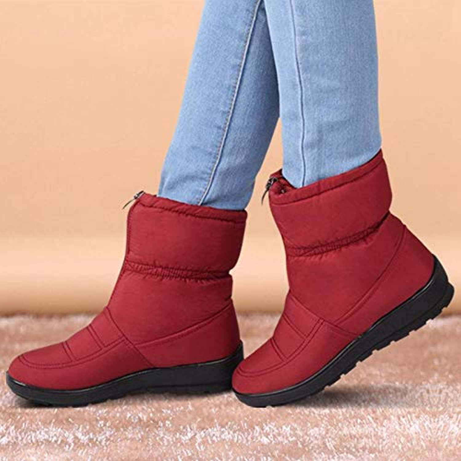 QDL1 ASILETO ASILETO Women Winter Boots Female Down Ankle Boots Waterproof Warm Snow Boots Girls Ladies shoes Woman Warm Fur Botas women S720