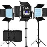 GVM RGB Video Lights with APP Control, 50W Full Color Studio Video Lighting Kit, Led Video Lights for YouTube Photography Lighting, 3 Packs Led Light Panel, Aluminum Alloy Shell, 3200K-5600K