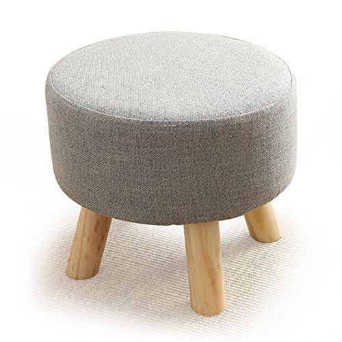 QIDI Tabouret Canapé Chambre Salon Table Basse Creative Bois Massif 40 * 26cm (Couleur : Style 4)