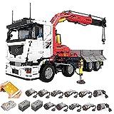 FYHCY Camión grúa de tecnología Modelo, Mold King 19002, camión de tecnología neumático con Control Remoto y Motor, 8238 Piezas, Juego de construcción, Compatible con tecnología Lego