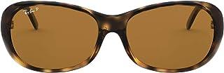 Women's RB4061 Sunglasses, Tortoise/Polarized Brown, 55 mm