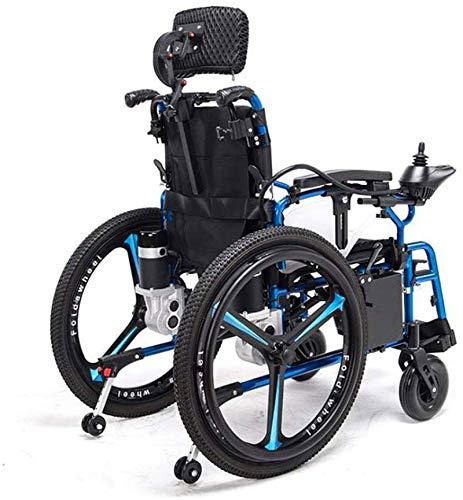 51 pag9DplL - Sillas de ruedas eléctricas para adultos Silla de ruedas eléctrica Silla de ruedas plegable y reclinable silla de ruedas, ancianos y discapacitados de cuatro ruedas del vehículo Cuidado, 150 kg de automobile