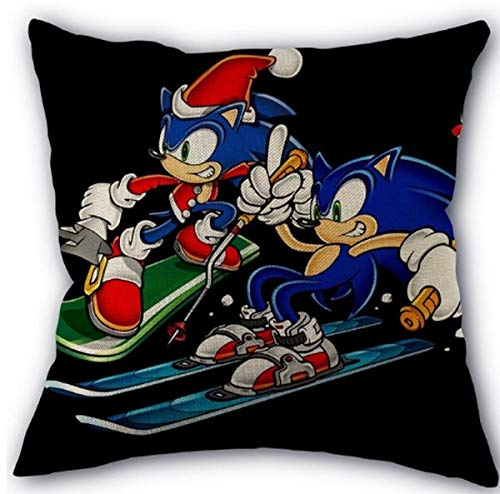FENGHU Kissen Sonic Sonic The Hedgehog Kissenbezug Quadratischer Kissenbezug Reißverschluss