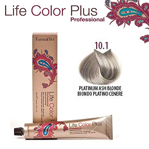 Farmavita Life Color Plus, Tinte 10.1 Rubio Platino Ceniza - 60 ml