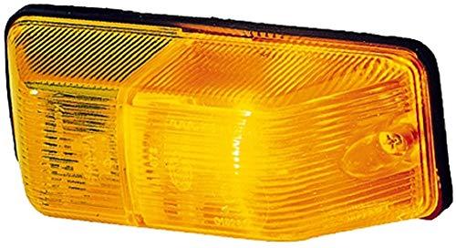 HELLA 2BM 006 692-021 Zusatzblinkleuchte - Glühlamp - P21W - 12V/24V - Lichtscheibenfarbe: gelb - Anbau - Einbauort: rechts/seitlicher Anbau