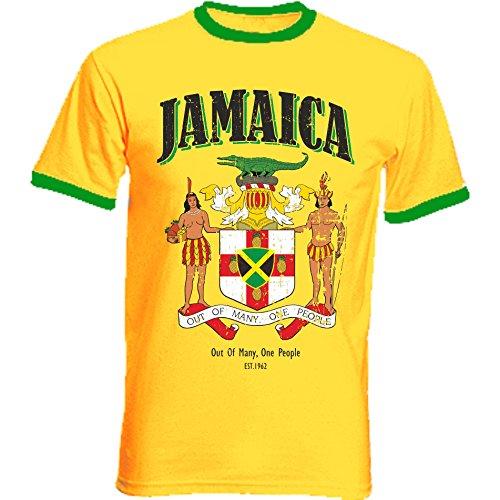 aprom Jamaika Ringer T-Shirt Fußball Trikot D04 GE (2XL)