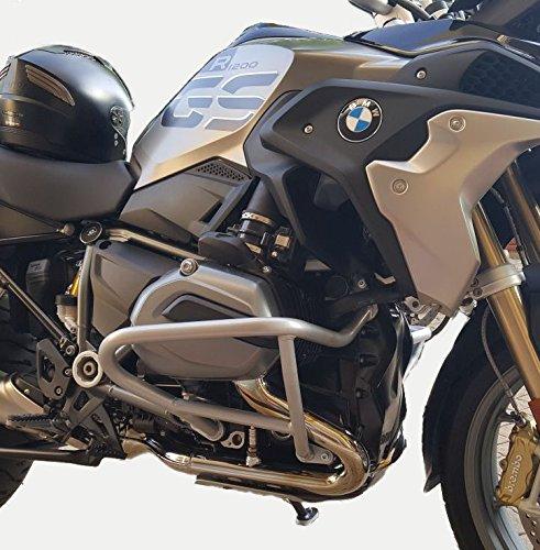 Motorbikecomponents, Paracilindri-paramotore tubolare in ferro verniciato Argento compatibile con BMW R 1200 GS LC 2013-2018