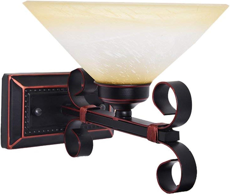 Xiao Fan    American Country Nachttischlampe Einzelner Doppelschlafzimmer-Gangbalkon E27 (Farbe  Einzelkopf)