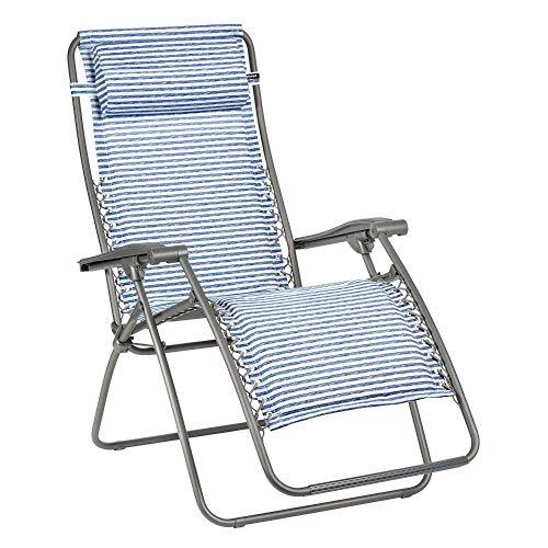 LAFUMA MOBILIER Relax-Liegestuhl, Klappbar und verstellbar, Mit Schnürsystem, RSX, Polyester/Baumwolle, Farbe: Marine, LFM2033-9291