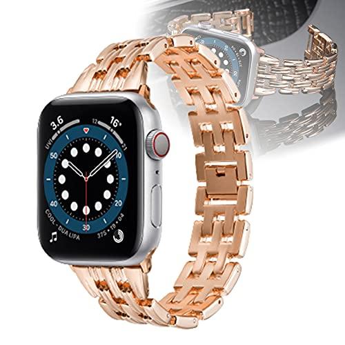WJMT Correa De Repuesto Compatible con La Correa De Reloj De Apple 44 Mm 42 Mm 40 Mm 38 Mm, Pulsera De Correa Metálica Compatible con La Correa De Reloj De Apple 6/5/4/3/2/1,42mm/44mm