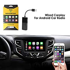 【IMPORTANT BUYING CONDITIONS】Car system must be based on Android and can install my apk! This dongle Only works with Android system screen! Original screen car does not supported!! 【UPDATEABLE SYSTEM】This Carlinkit Carplay Box supports online updates...